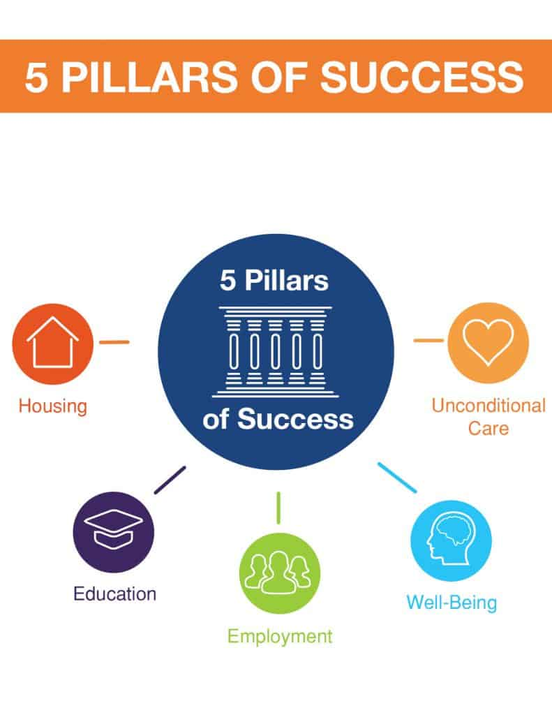 5 Pillars of Success diagram
