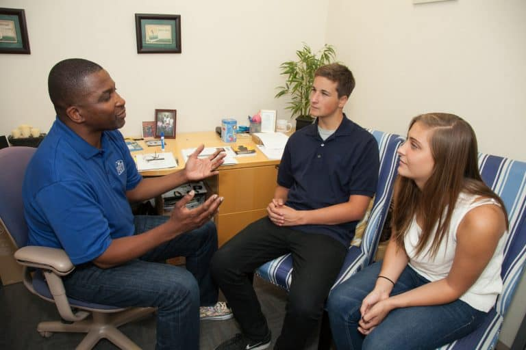 counselor with teens