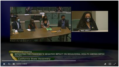 Presentation to the California Assembly Select Committee on the Status of Boys and Men of Color