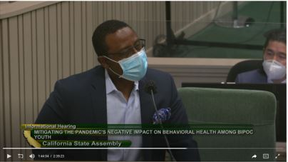 Presentation to the California Assembly Select Committee on the Status of Boys and Men of Color — second segment